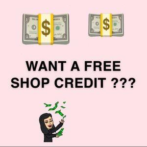FREE $5 SHOP CREDIT